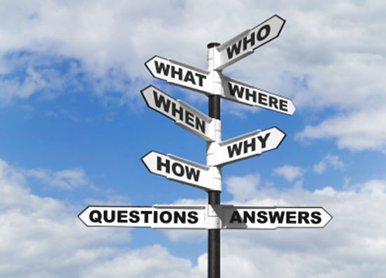 Asking Questions-Who What When Where Why How